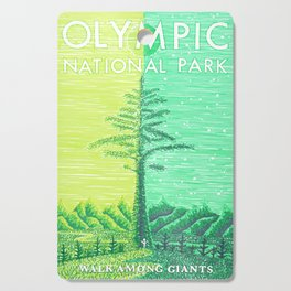 Olympic National Park tribute poster Cutting Board