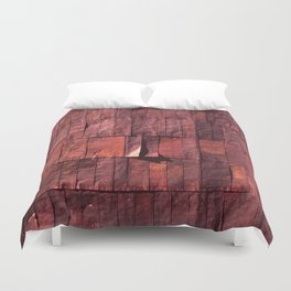 Antique Copper Wall Pattern Duvet Cover