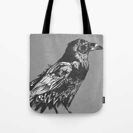Raven Grey Tote Bag
