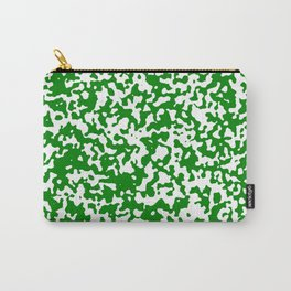Small Spots - White and Green Carry-All Pouch