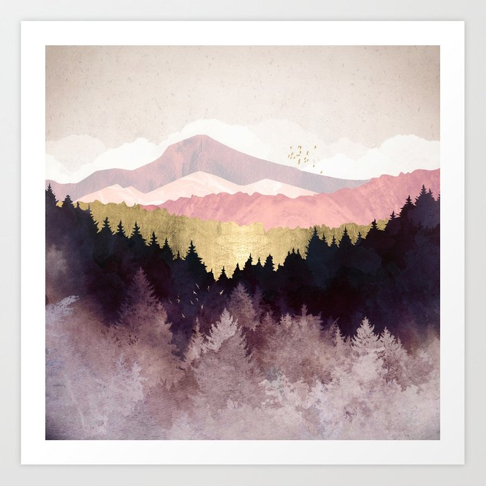 Plum Forest Art Print