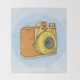So Analog - Agfa Clack Retro Vintage Camera Throw Blanket