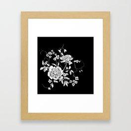 Onyx Floral Framed Art Print