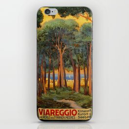 Viareggio woods and sea iPhone Skin