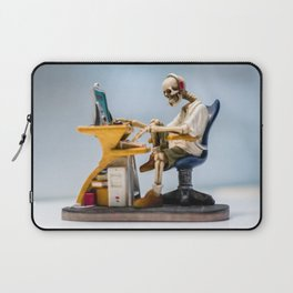 Dead at the Screen (Skeleton) Laptop Sleeve