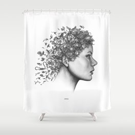 Spring Woman Shower Curtain