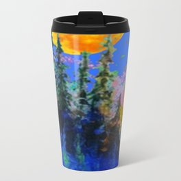 FULL MOON OVER BLUE MOUNTAIN FOREST DESIGN Travel Mug