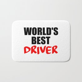 worlds best driver funny saying Bath Mat