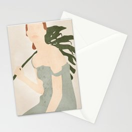 Holding the Monstera Leaf Stationery Cards