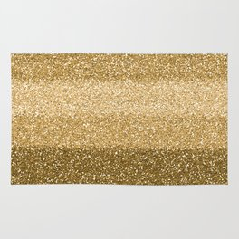 Glitter Glittery Copper Bronze Gold Rug