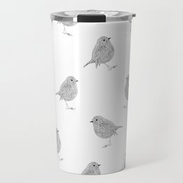 A minimalist Robin Travel Mug