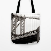 brooklyn Tote Bags featuring Brooklyn by Miuk