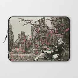 two piece shoot out in neo tokyo... by rmd Laptop Sleeve