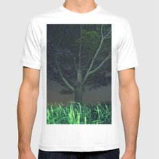 Lying under the Tree MEDIUM White Mens Fitted Tee