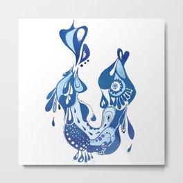 Fish-water pattern Metal Print