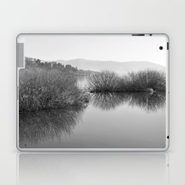 Lakescape in bw Laptop & iPad Skin