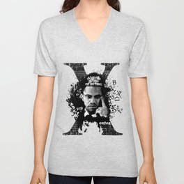 Malcolm X Stand Tall Unisex V-Neck