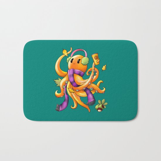 Autumn Octopus Bath Mat