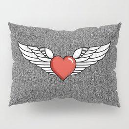 Winged Heart Pillow Sham