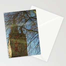 Old Tower And Leafless Branches Stationery Cards