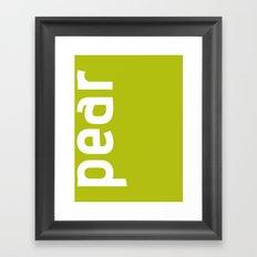 Colors - Pear Framed Art Print