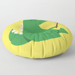 Dragon and Marshmallow Floor Pillow