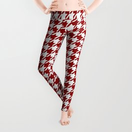 HoundsTooth Samba Sultry Red Leggings