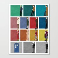 doctor who Canvas Prints featuring Doctor Who? by The Joyful Fox