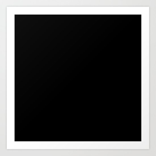 Black #8 (Licorice)  Art Print