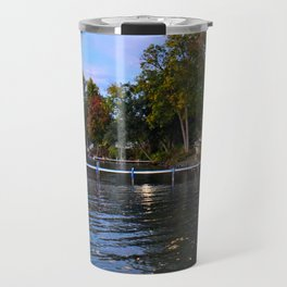 Autumn Arrives at the Lake Travel Mug