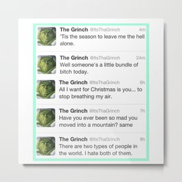 The Grinch Metal Print
