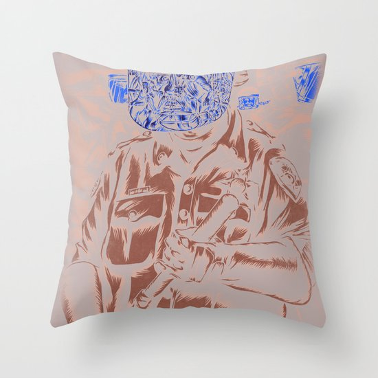 Spray Cop Volume Two Throw Pillow