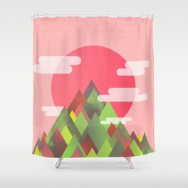 Cloudy Peaks Shower Curtain