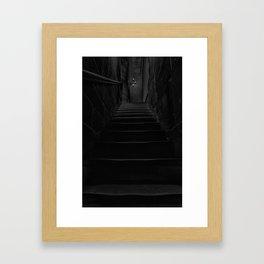 Dark stairs Framed Art Print