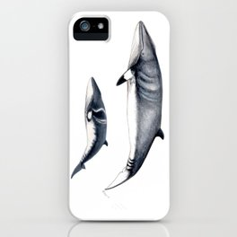 Minke whale with baby whale iPhone Case