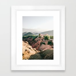 Travel photography Atlas Mountains Ourika | Colorful Marrakech Morocco photo Framed Art Print
