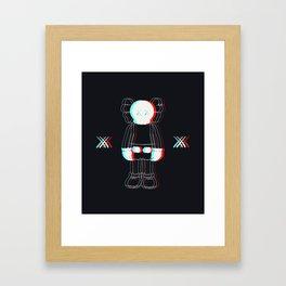 Trippy Kaws Framed Art Print