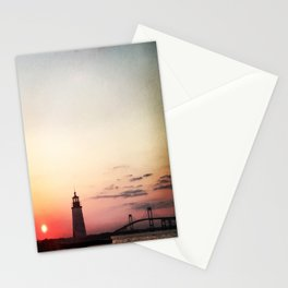 Narragansett Bay at Sunset Stationery Cards