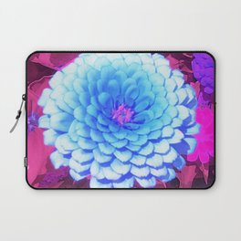 Pretty Blue Zinnia in the Purple Summer Garden Laptop Sleeve