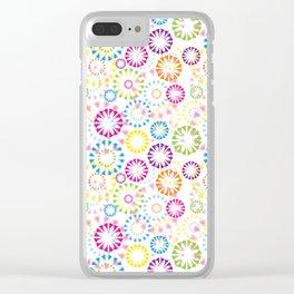 Cute Colors Clear iPhone Case