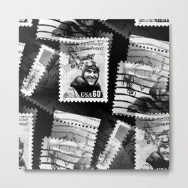 Nostalgic Stamps In Black And White #decor #society6 #homedecor Metal Print