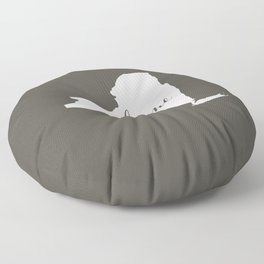 New York is Home - White on Charcoal Floor Pillow