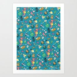Dungeons & Patterns Art Print