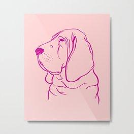 Bloodhound (Pink and Pink Violet) Metal Print