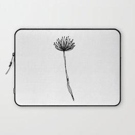 Simple Flower Outline Print - Continuous Line Art Laptop Sleeve