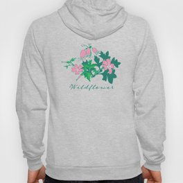 Forest Wildflowers at Daybreak / Emerald Background Hoody
