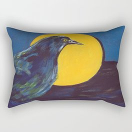 Awakening (American Crow) Rectangular Pillow