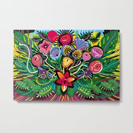 Tropical Flower Arrangement Metal Print