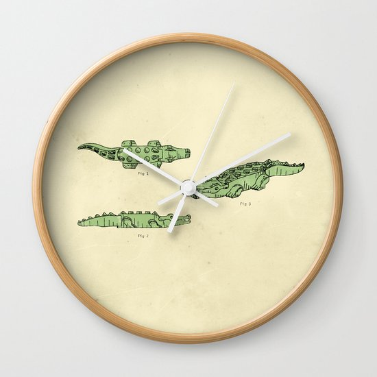 Lego Crocodile  Wall Clock
