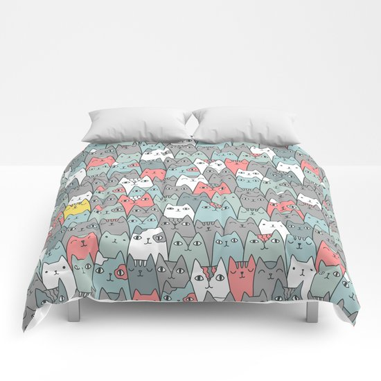 Cats family Comforters
